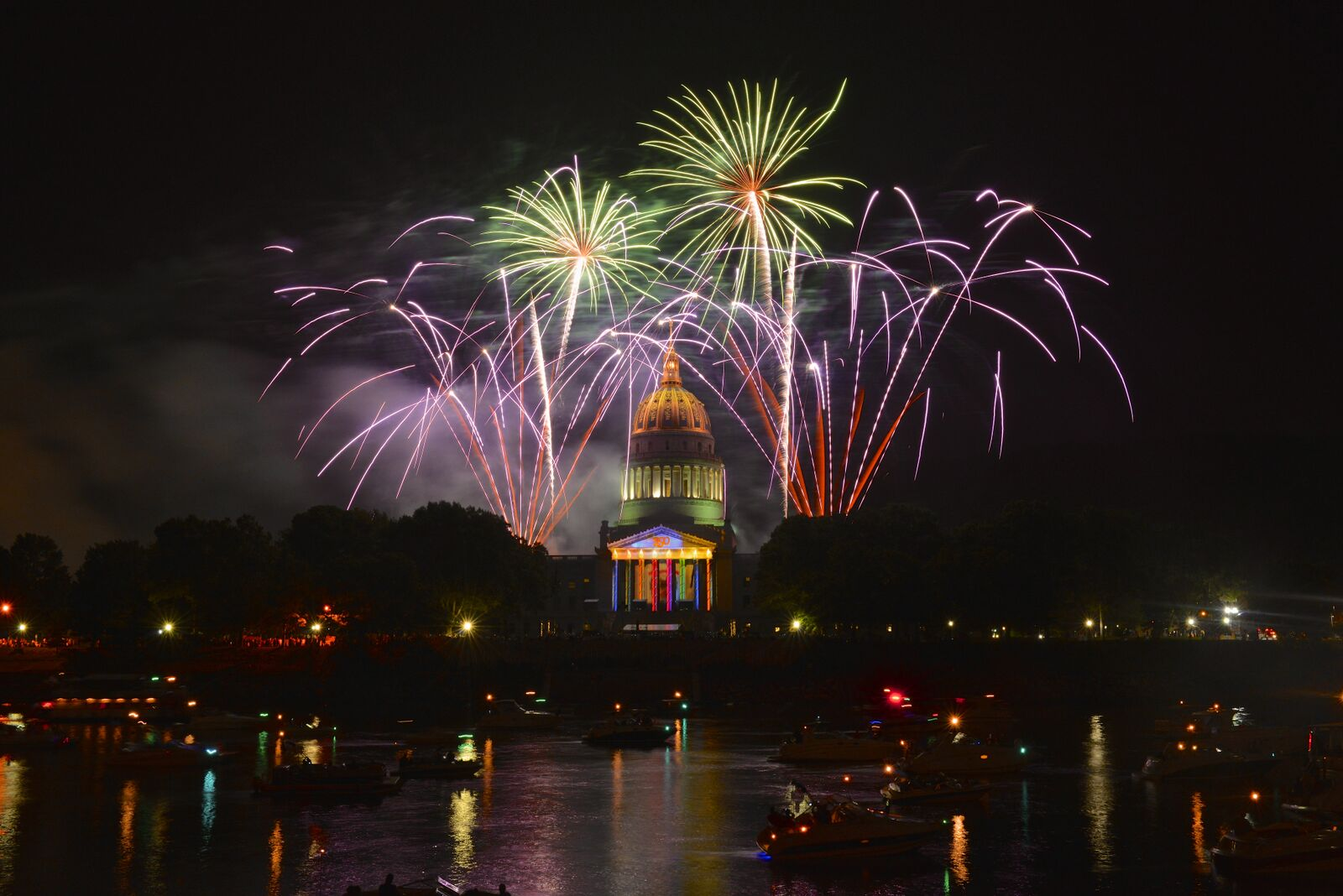 Capital with Fireworks