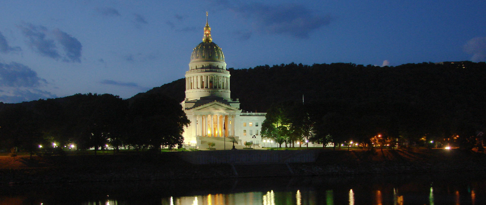 WV Capitol at Dusk